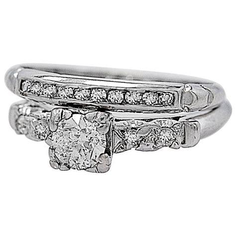 deco wedding ring set deco 35 carat platinum wedding ring set for sale at 1stdibs