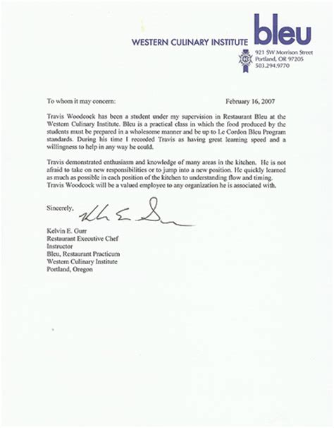 Reference Letter For Culinary Student Chef In Tahoe Reference Letter Chef In Tahoe Travis Woodco Flickr Photo