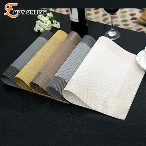 set de table pvc trivet kitchen table bar mat plastic