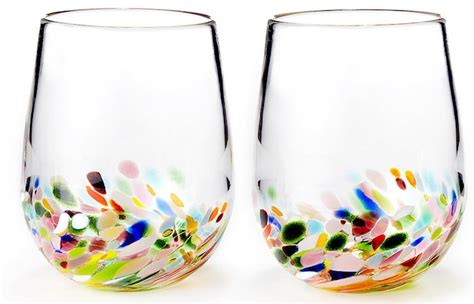 stemless colored wine glasses www pixshark images