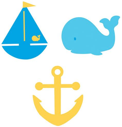 cartoon boat cut out felt sailboat whale anchor cutout decorations