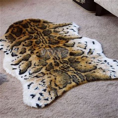 Snow Leopard Rug by Snow Leopard Animal Print Faux Fur Single From Ebay Co Uk Il