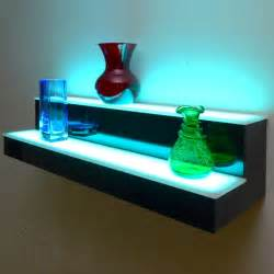 lighted bookshelves 2 tier led display shelf led lighted bar shelf bottle