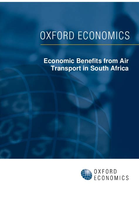 Benefits Of An Mba In South Africa economic benefits from air transport in south africa