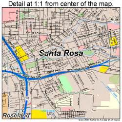santa rosa california map 0670098
