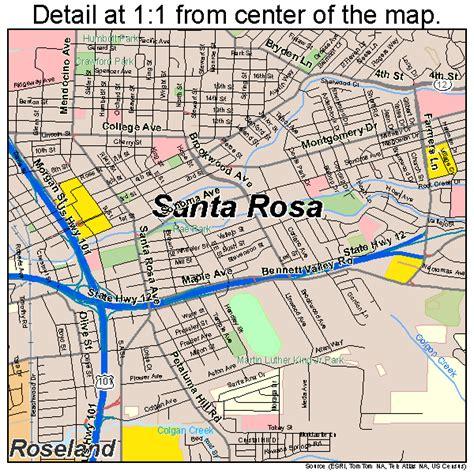 california map santa map of santa rosa my