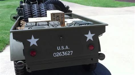 wwii jeep trailer 1942 wwii ford gpw with bantam t 3 trailer
