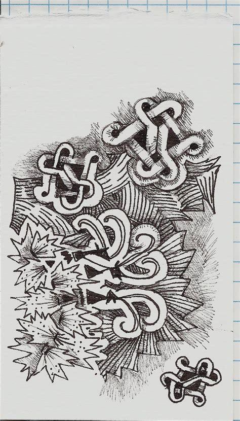 zentangle knot pattern my tangle pattern uncherys