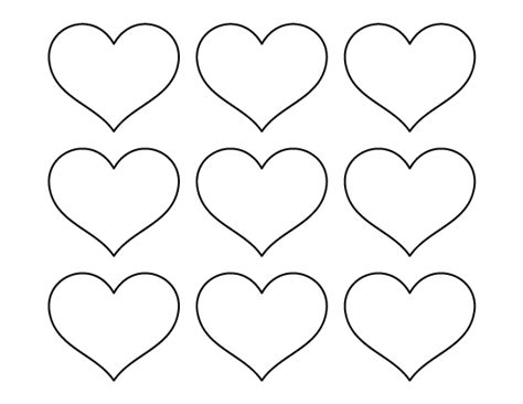 pin small hearts print color fun free printables coloring