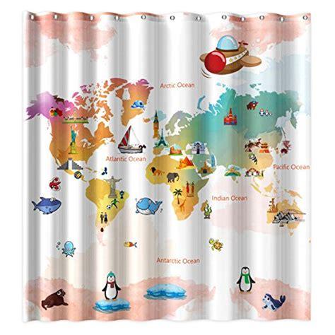 world map shower curtain webnuggetz