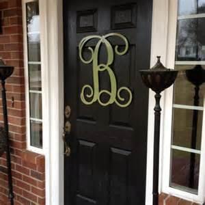 Monogram Letters For Front Door Monogram Wreath Door Decor Large From Housesensations On