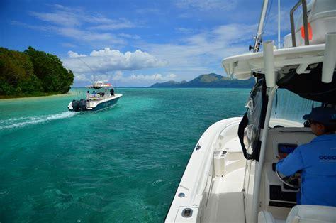 sport fishing boat ocean vanuatu fishing trips blue water game fishing adventure