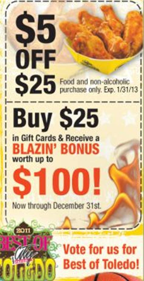 Wingstop Gift Card Balance - buffalo wild wings coupon fire it up grill