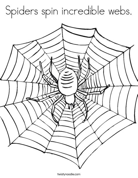 coloring page of spider web spiders spin incredible webs coloring page twisty noodle