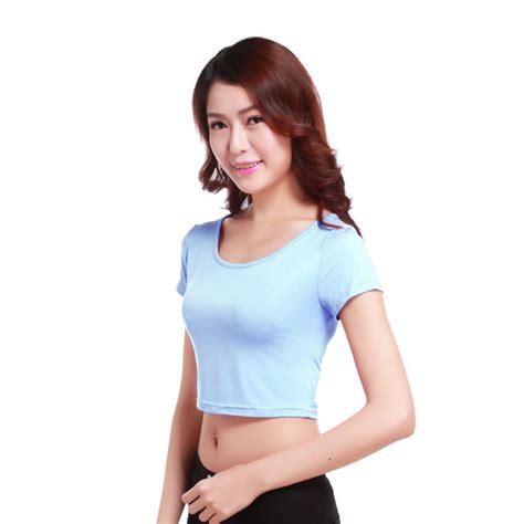 29797 Summer Crop Top summer crop tops sleeve blouse casual vest t shirt ebay