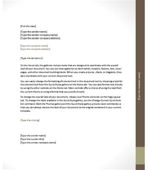 Office Word Business Letter Template word 2010 cover letter template 28 images 8 microsoft
