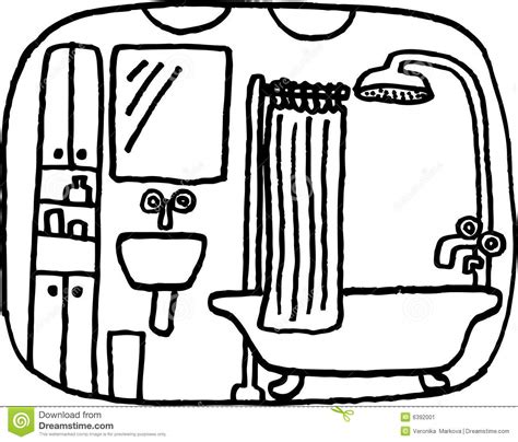 badezimmer comic badezimmer vektor abbildung illustration schauen