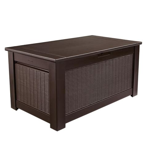 bench box storage seat rubbermaid bench storage box