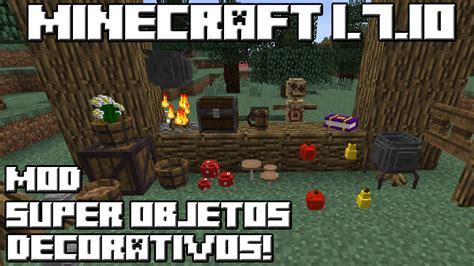 mod gta 5 minecraft 1 7 10 minecraft 1 7 10 mod super objetos decorativos youtube