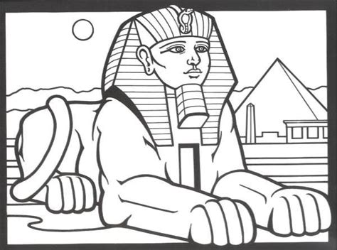 Egypt Sphinx Coloring Pages | sphinx line art bing images coloring pages for adults