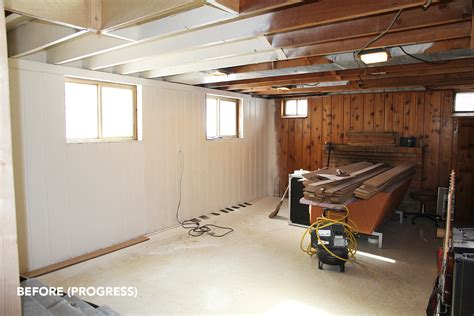 Best Way To Paint Basement Ceiling by From The Weekend Basement Progress Fairly Modern