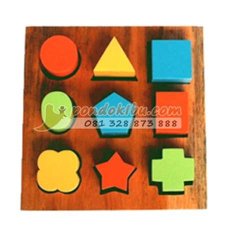 Shape Puzzle Mainan Puzzle Bentuk mainan anak edukatif shape block puzzle pondok ibu