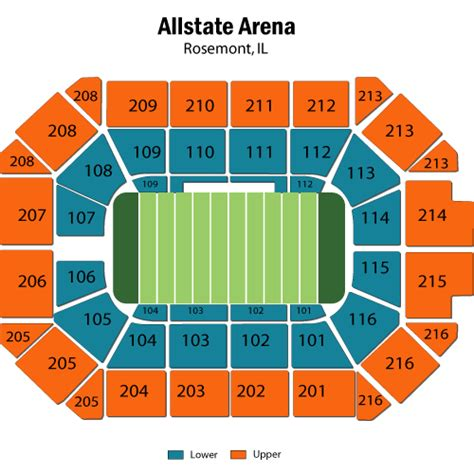 allstate arena seating pictures chicago vs iowa barnstormers may 06 tickets