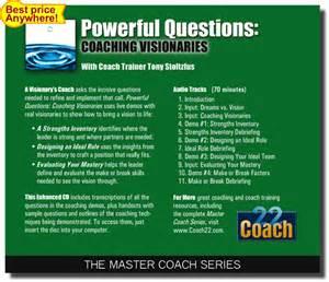powerful questions coaching visionaries coach cd