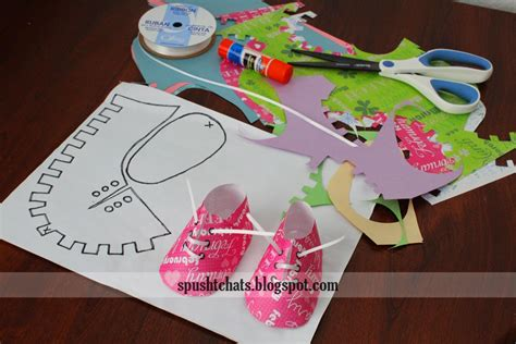 spusht chats baby shoes paper craft baby shower idea