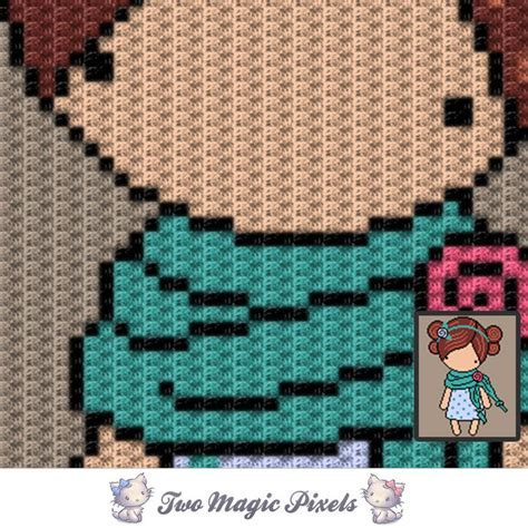 pattern magic 3 pdf free download green scarf magic doll inspired c2c graph twomagicpixels