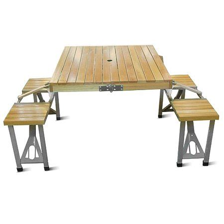 Folding Picnic Table And Stools by Folding Picnic Table And Four Stools Walmart