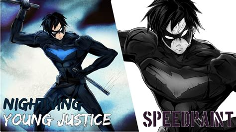 nightwing hairstyle nightwing young justice comic style youtube
