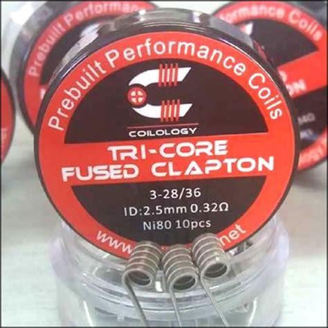 Fused Clapton Coil Ni80 coilology ni80 tri fused clapton premade coils 10pcs box