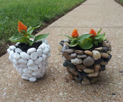 Rock Planters by Diy River Planter