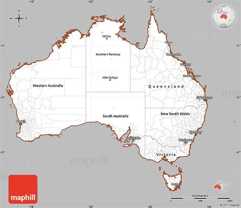 australia map simple gray simple map of australia cropped outside