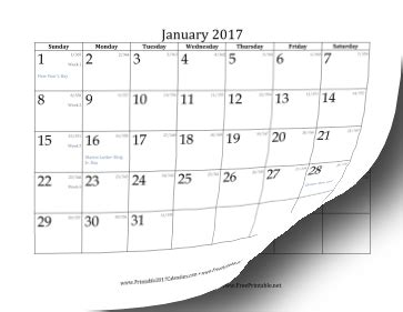 Day Of Year Calendar Printable 2017 Calendar With Day Of Year And Days