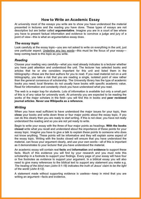 Exles Of Academic Essay by 5 Writing Academic Essay Agenda Exle