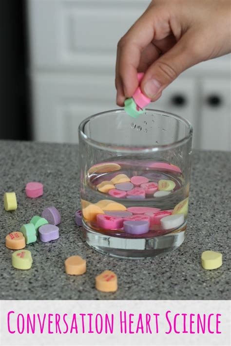 Conversation Heart Candy Science Experiments   Coffee Cups and Crayons
