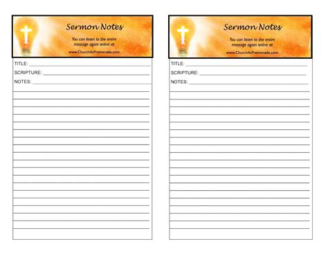 sermon notes template living for eternity august 2011