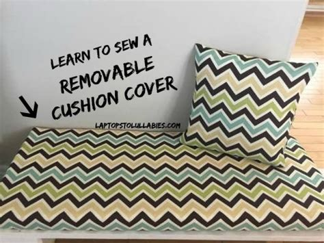 no sew removable bench cushion cover sew a removable cushion cover s handmade