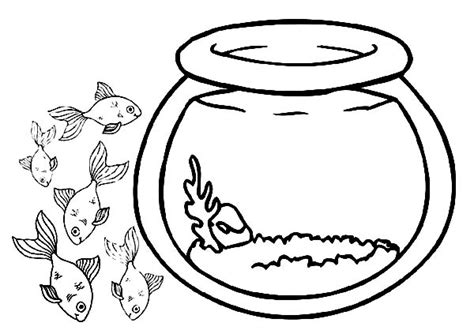 coloring pages fish bowl fish bowl outline cliparts co