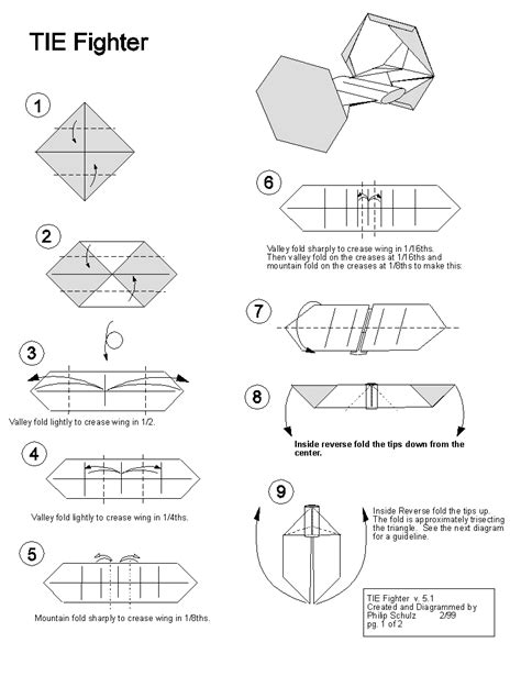 How To Make A Paper X Wing Fighter - wars tie fighter origami awesomeness