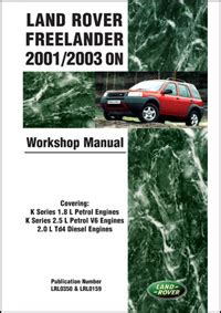 online auto repair manual 2002 land rover freelander engine control land rover land rover repair manual freelander lr2 2001 2003 bentley publishers repair