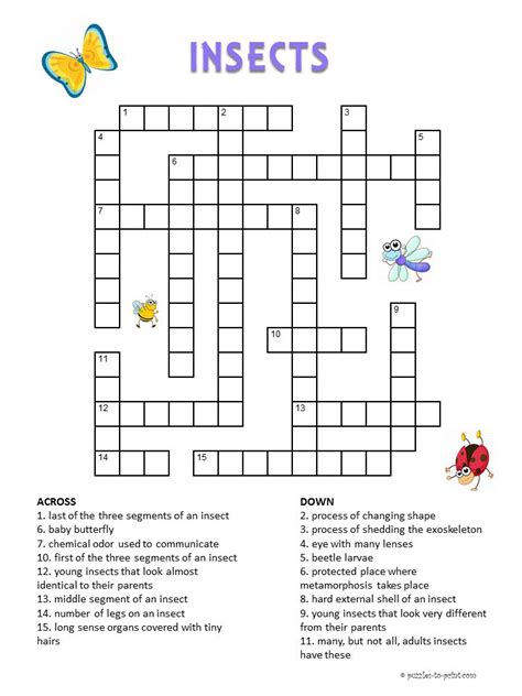 printable puzzles for kids 107 best crosswords for kids images on pinterest