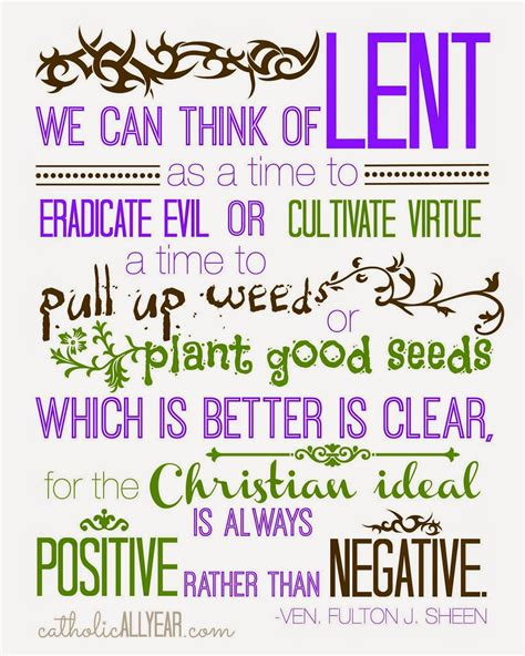 printable prayer quotes catholic all year ven fulton sheen lent quote purple and