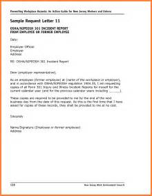 incident report letter template 9 incident report sle marital settlements information