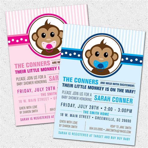 free monkey baby shower invitation templates free printable monkey baby shower invitations theruntime