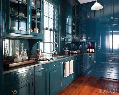 Blue Gloss Kitchen Cabinets by Hague Blue Kitchen Panda S House