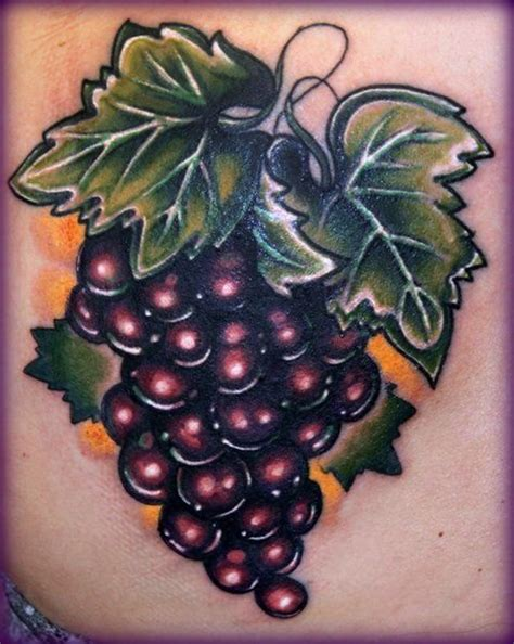grape tattoo designs purple grapes