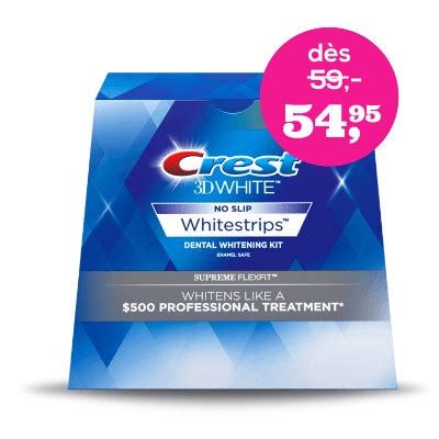 crest white strips supreme crest whitestrips luxe supreme flexfit pour des dents d